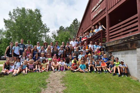 Campers and counselors hang out at Camp Kesem.