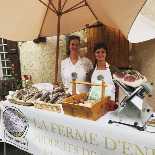 Louisa Hallewell (left) is the owner of Little Black Pig cooking school in France's Gascony region, specializing in traditional farmhouse cooking methods. She'll be teaching three hands-on cooking classes March 1 to 3 at Kettle Range Meat Co. in Milwaukee.