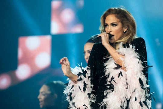 Jennifer Lopez, shown onstage at the Grammys in Los Angeles in February, is reportedly headlining Summerfest's American Family Insurance Amphitheater July 3, according to People.com.