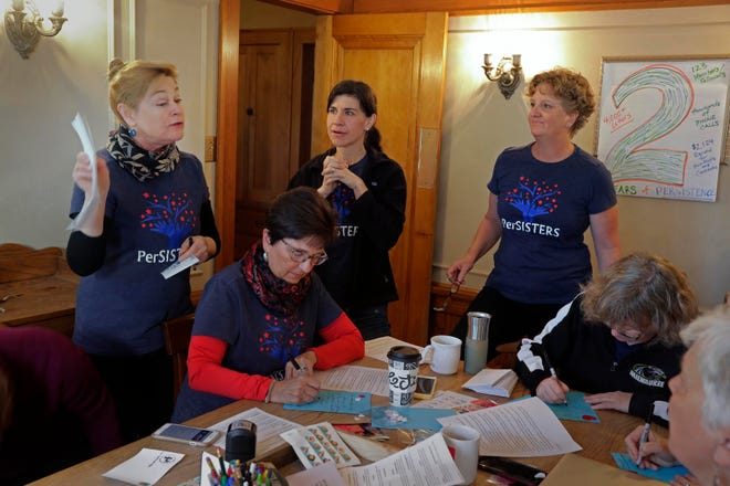 Christy Brooks, who is concerned about the environment, shares a response she received from the Environmental Protection Agency regarding an issue of concern. The PerSisters meet at a Wauwatosa home every Friday and they write letters about border security, taxes, education, gerrymandering, guns and many other issues.