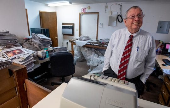 Goodloe Sutton, publisher of the Democrat-Reporter newspaper, at the newspaper office in Linden, Ala., on Thursday February 21, 2019.
