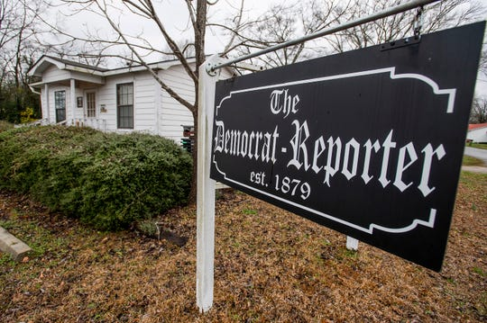 The office of the newspaper The Democrat-Reporter in Linden, Ala., shown on Tuesday February 19, 2019.