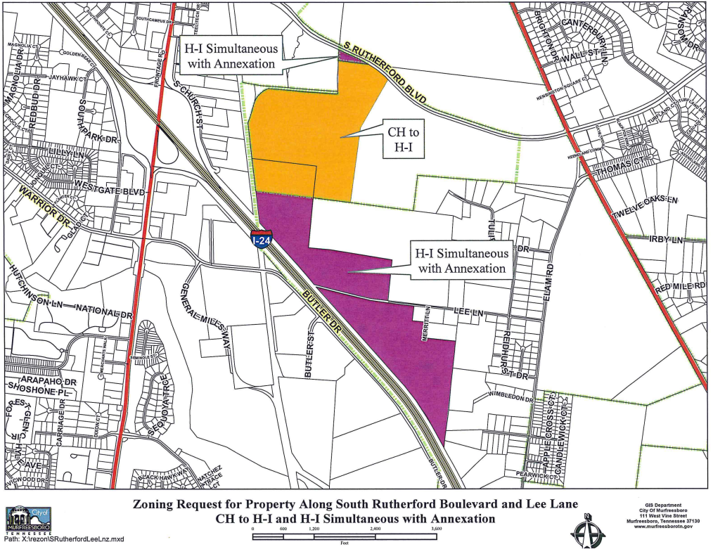 A proposed factory and HQ seeks heavy industrial zoning in Murfreesboro