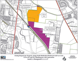 A proposed factory and headquarters development seeks heavy industrial zoning on S. Rutherford Blvd. near Interstate 24 interchange at S. Church St.