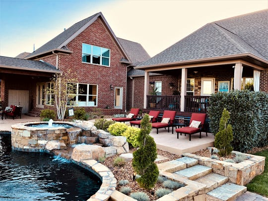 Amber Hurdle says the backyard of her Lebanon home is her favorite room of the house.