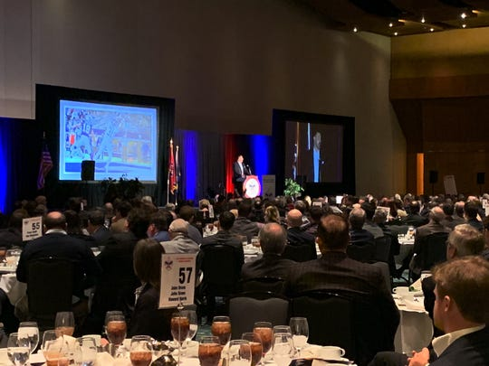Mike Vrabel was the keynote speaker at theBoy Scouts Middle Tennessee Council's Friends of Scouting Patron Luncheon on Thursday, Feb. 21.