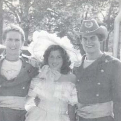 Tennessee Gov. Bill Lee, right, pictured in a Confederate uniform at an Old South party as a student at Auburn. Lee says he regrets attending the parties.