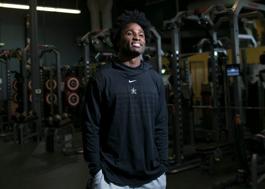 Joejuan Williams, a former defensive back for the Vanderbilt Commodores, stands for a portrait at the EXOS training facility in Phoenix, Ariz., on Monday, February 18, 2019.