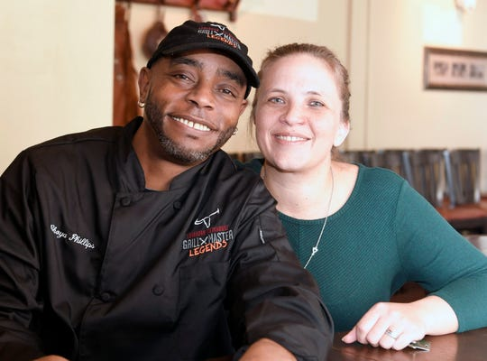 Choya Phillips credits Tamara Jones, LongHorn Steakhouse managing partner, and his restaurant family in staying happy at one job for 28 years.  Phillips has grilled 1 million steaks in his 28 years at the same LongHorn Steakhouse in Madison. Phillips  cooks a steak at Longhorn Steaks in Madison on Wednesday, Feb. 20, 2019.  Phillips credits  Tamara Jones, LongHorn Steakhouse managing partner,