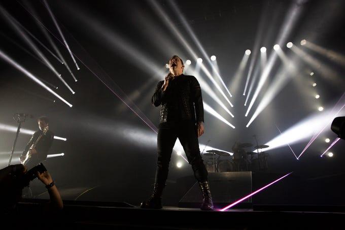 Shinedown performs, Wednesday, Feb. 20, 2019, at Hertz Arena in Estero.