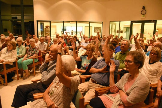 """Many audience members said they had known someone who was not allowed to die with dignity. The 'Progressive Voices Speak Out' lecture series at the Unitarian Universalist Congregation of Naples hosted Compassion and Choices CEO Kim Callinan for a talk Wednesday evening on """"How Can We Control the End of Our Lives?"""""""