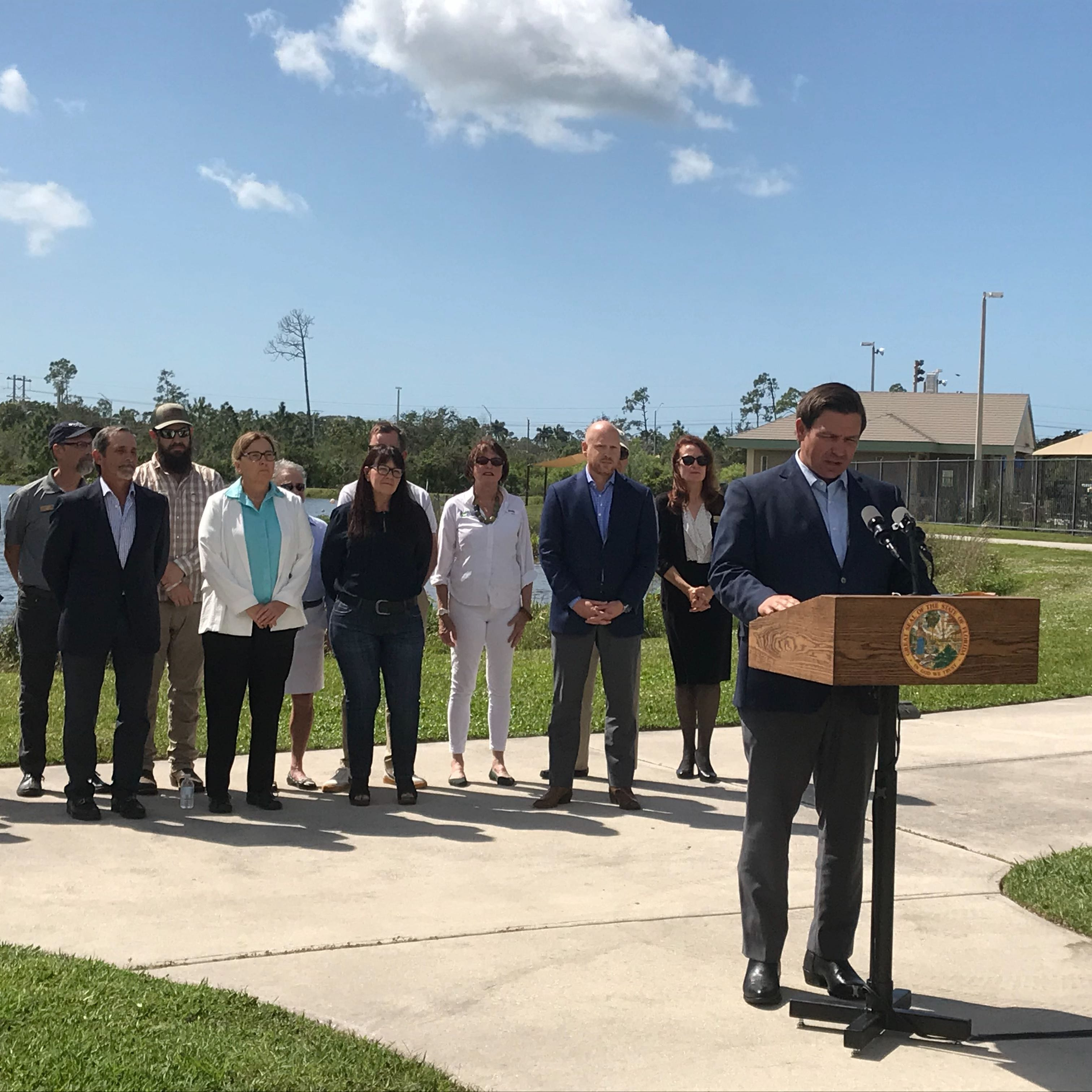 Gov. DeSantis names four to water district board during stops in North Naples, Stuart