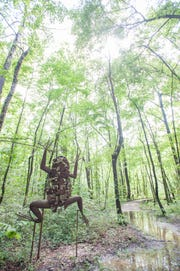 University of Montevallo art students show their work in the natural areas around its Alabama campus. Bonita Springs will soon host student art.
