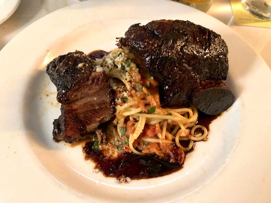 Balsamic-glazed short ribs at Campiello in Naples are earthen and wild.