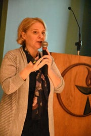 """The 'Progressive Voices Speak Out' lecture series at the Unitarian Universalist Congregation of Naples hosted Compassion and Choices CEO Kim Callinan for a talk Wednesday evening on """"How Can We Control the End of Our Lives?"""""""