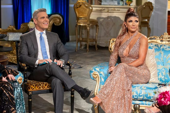 "Andy Cohen and Teresa Giudice at ""The Real Housewives of New Jersey"" Season 9 Reunion."