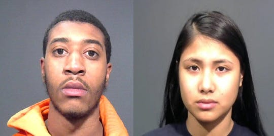 Adrian Baucum, 19, of Teaneck, at left, and Veronica Malabuyoc, 19, of Edison