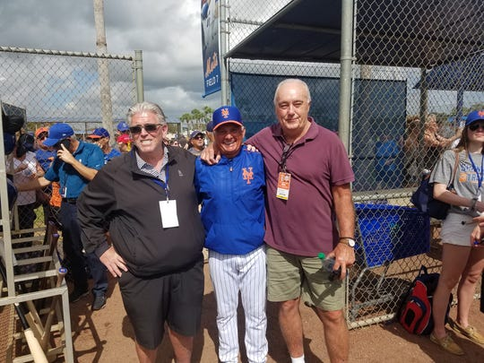 Mike Francesa (L), Terry Collins (c) and Ed Coleman (r)