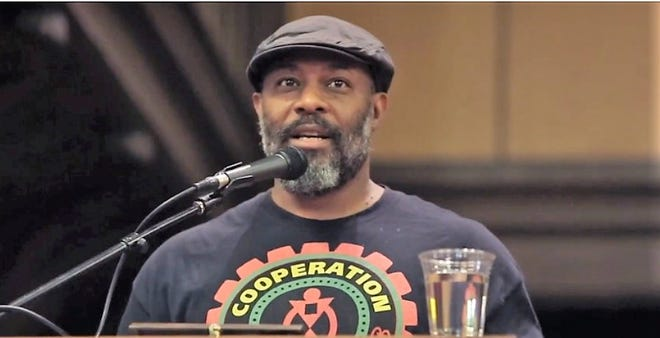 Kali Acuno, co-founder of Cooperative Jackson, seen in a screenshot from a 2018 post on YouTube.