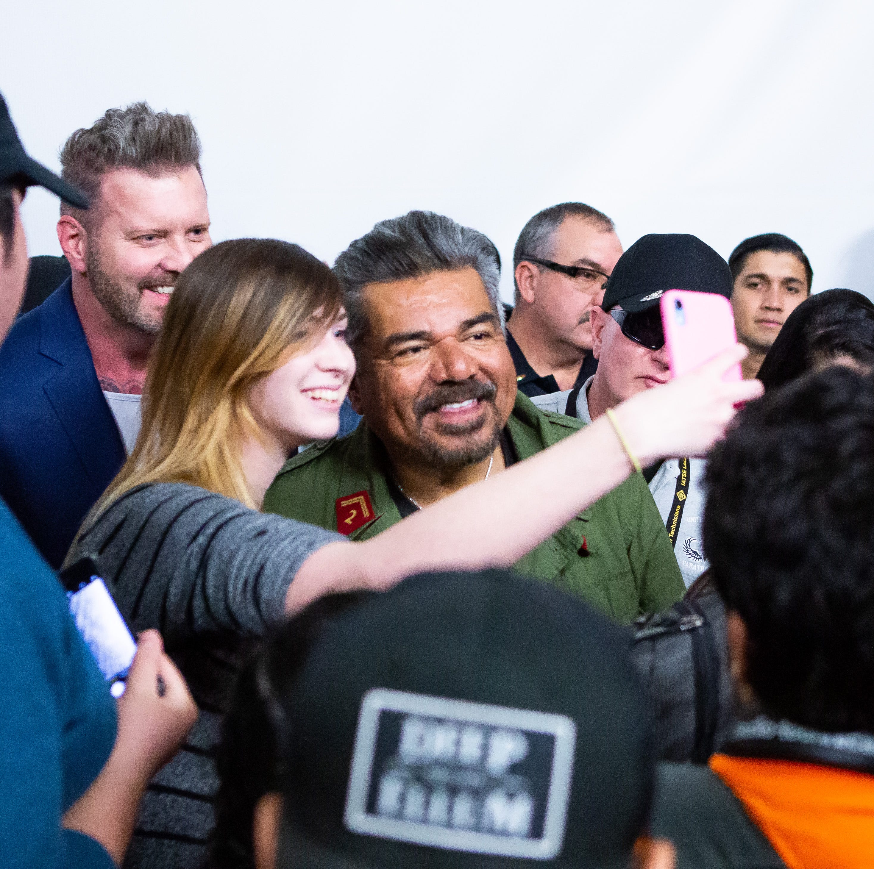 George Lopez speaks to NMSU students at the Corbett Center about his life and career