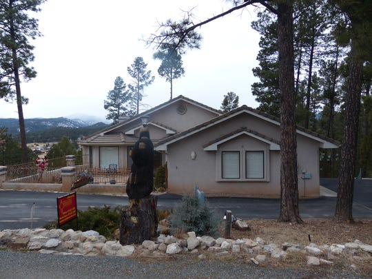 One of the homes for sale in Ruidoso with a spectacular view of Sierra Blanca Peak.
