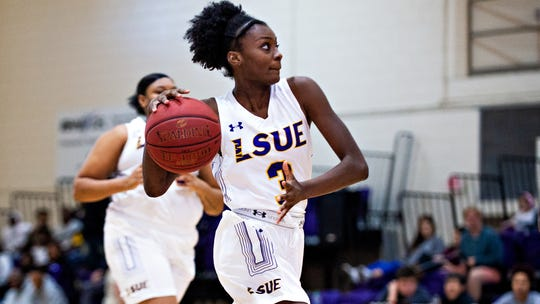 LeShenae Stubblefield poured in a team-high 14 points against Baton Rouge Community College on Wednesday in a win that clinched the conference championship for LSUE.