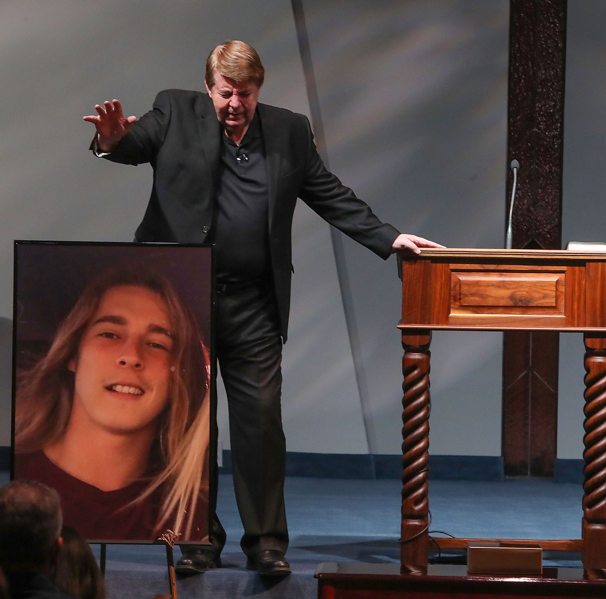 Messages of hope, faith resonate at service for Palm Springs shooting victim Jacob Montgomery