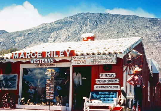 Marge Riley Westerns store in the Village Green.