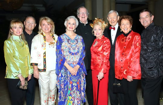 (left to right) Sharon French, Dennis French, Ogniana Masser, Peggy Preuss, Peter Preuss, Peggy Cravens, Richard Oliphant, Jan Oliphant, and Al Jones.