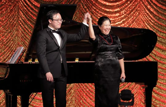 (left to right) Pianist Diyi Tang, and Mezzo Soprano Pereformer Elaine Wang Meyerhoffer.