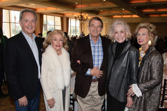 L-R Lindell Campbell, Peggy Cravens, Al Jones, Nelda Linsk, and Sarah Milmet