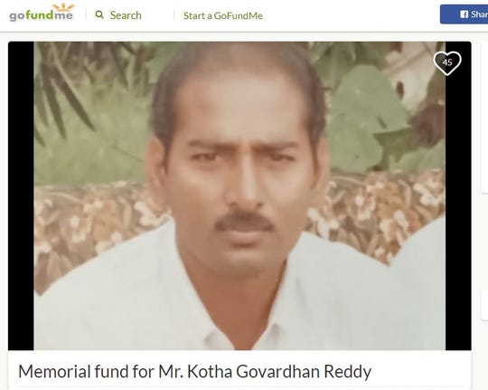 "A GoFundMe account has been set up for Kotha Govardhan, known as ""Reddy,"" after he was shot and killed at the Mobile Highway convenience store where he worked."
