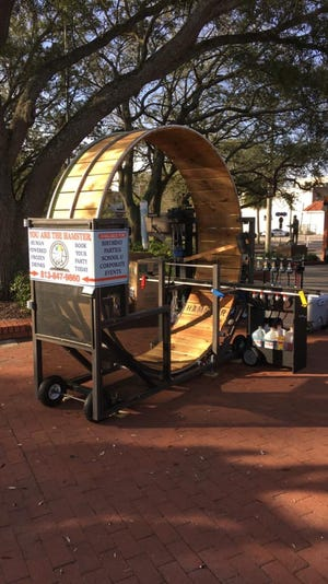 The life-size hamster wheel that makes snow cones.