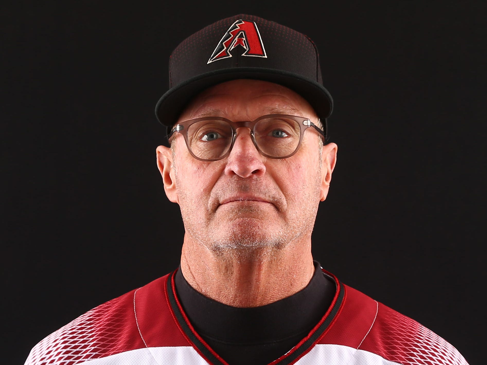 Jerry Narron of the Arizona Diamondbacks poses for a photo during the annual Spring Training Photo Day on Feb. 20 at Salt River Fields in Scottsdale, Ariz.