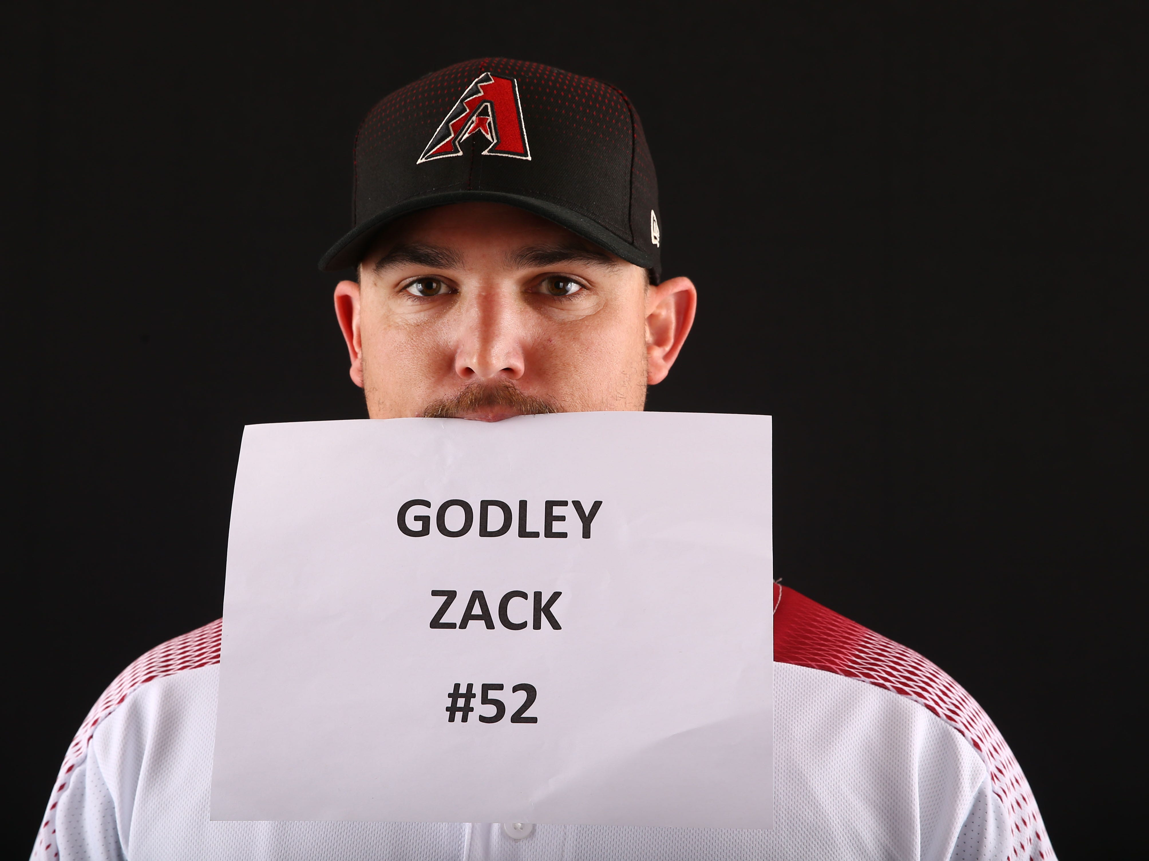 Zack Godley of the Arizona Diamondbacks poses for a photo during the annual Spring Training Photo Day on Feb. 20 at Salt River Fields in Scottsdale, Ariz.