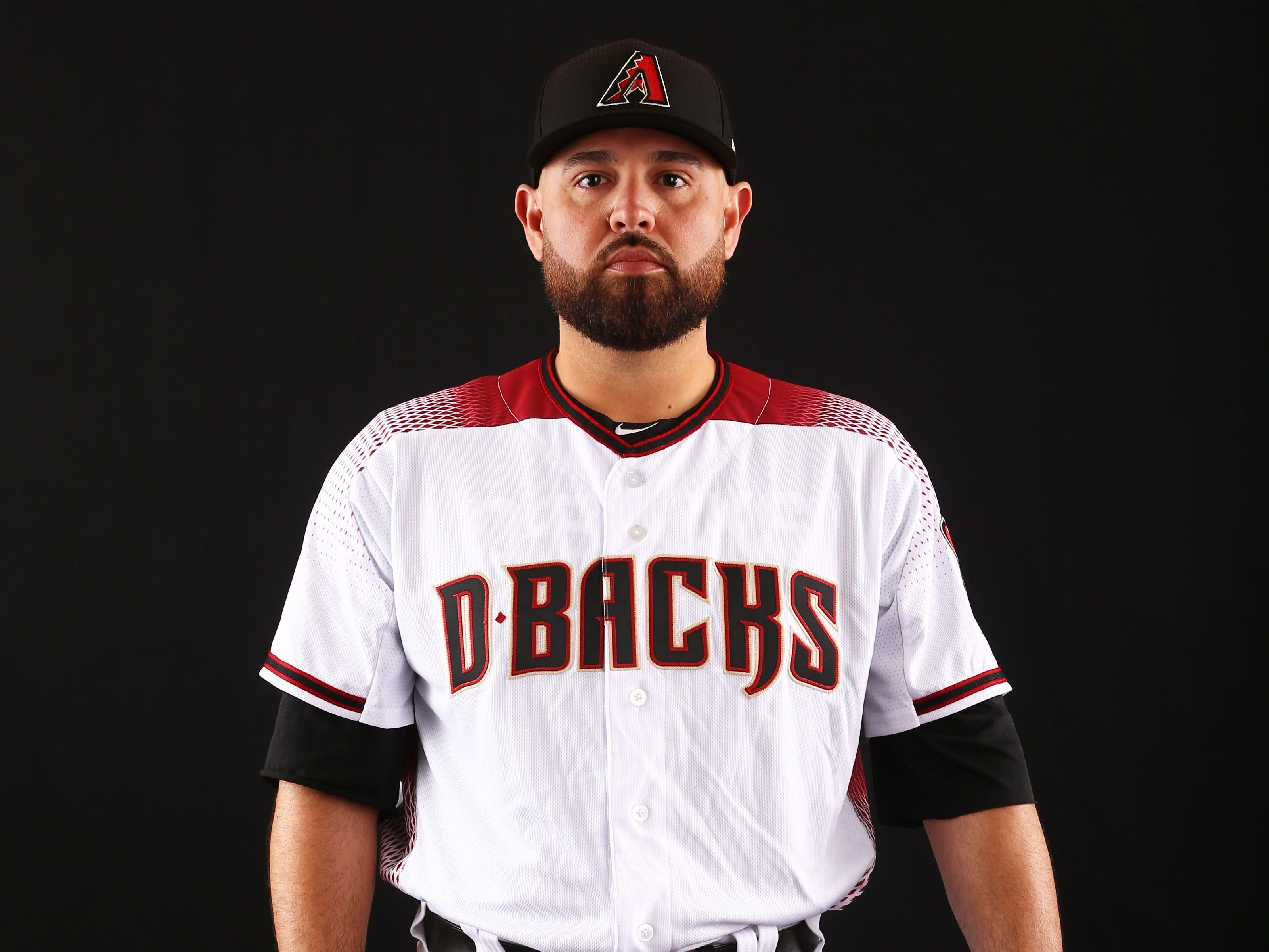 Ricky Nolasco of the Arizona Diamondbacks poses for a photo during the annual Spring Training Photo Day on Feb. 20 at Salt River Fields in Scottsdale, Ariz.