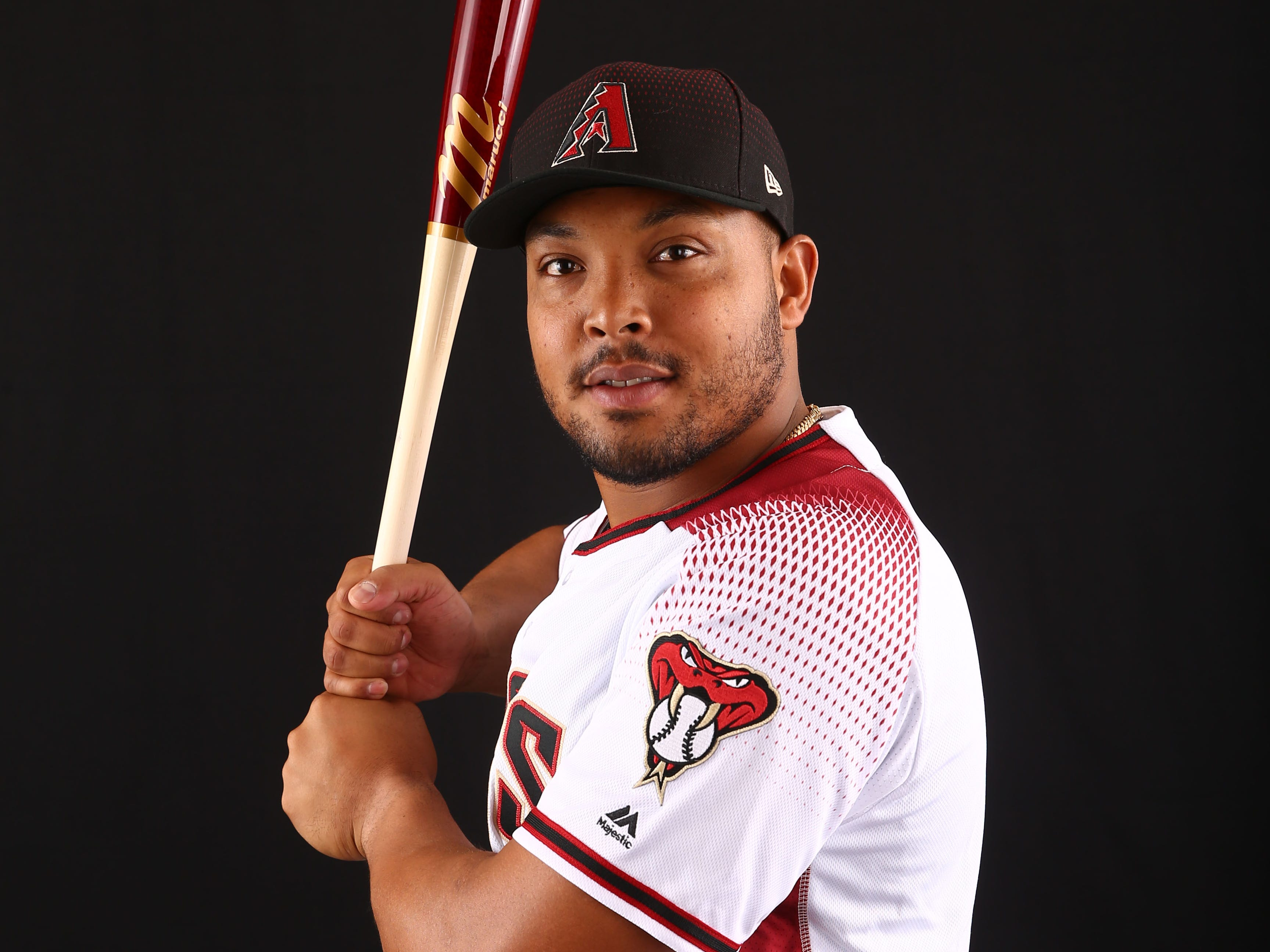 Yasmany Tomas of the Arizona Diamondbacks poses for a photo during the annual Spring Training Photo Day on Feb. 20 at Salt River Fields in Scottsdale, Ariz.
