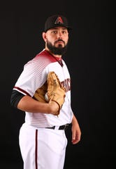 Robby Scott of the Arizona Diamondbacks poses for a photo during the annual Spring Training Photo Day on Feb. 20 at Salt River Fields in Scottsdale, Ariz.