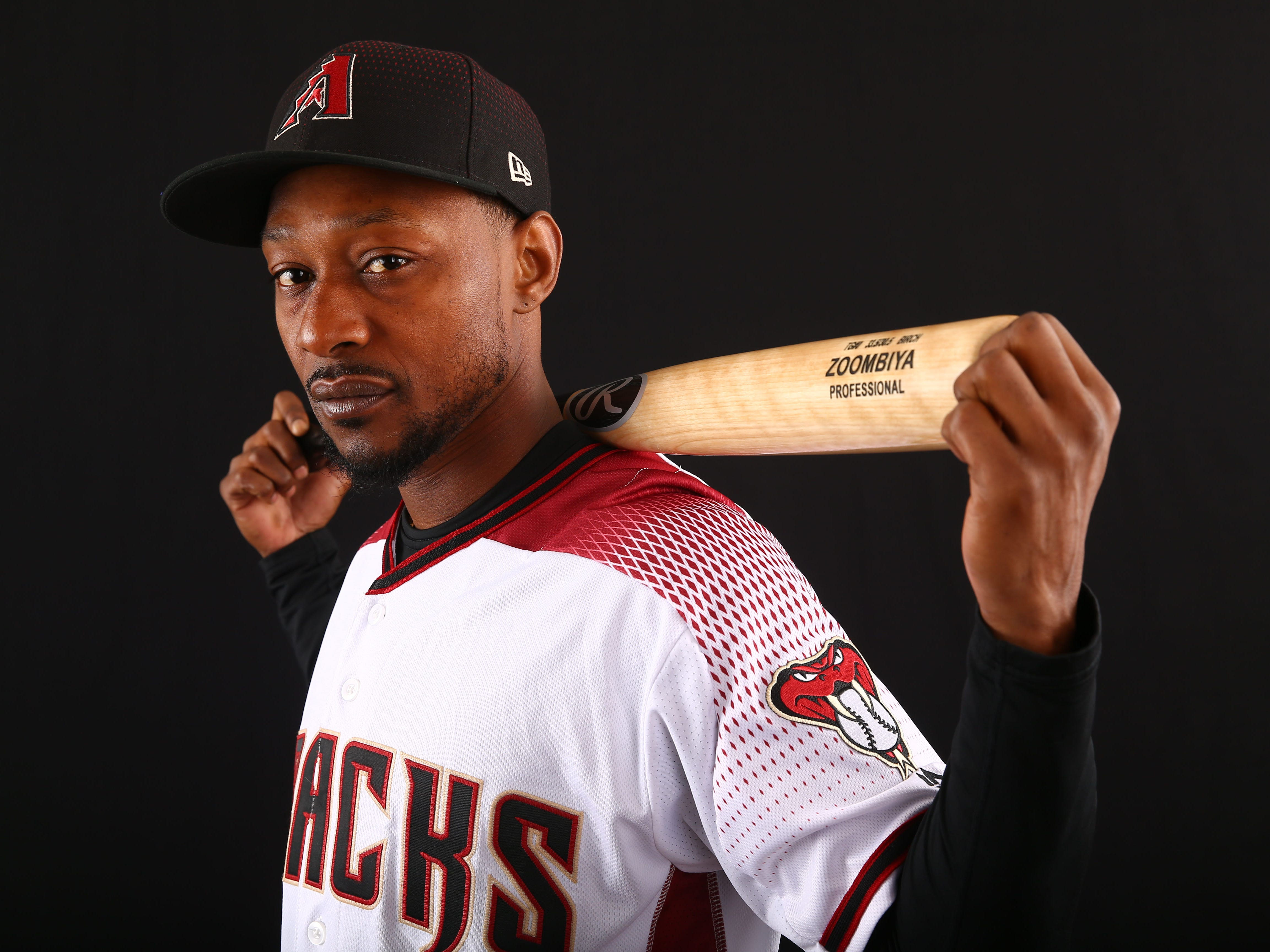 Jarrod Dyson of the Arizona Diamondbacks poses for a photo during the annual Spring Training Photo Day on Feb. 20 at Salt River Fields in Scottsdale, Ariz.