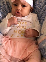 Amonte Jones' 2 month old daughter.