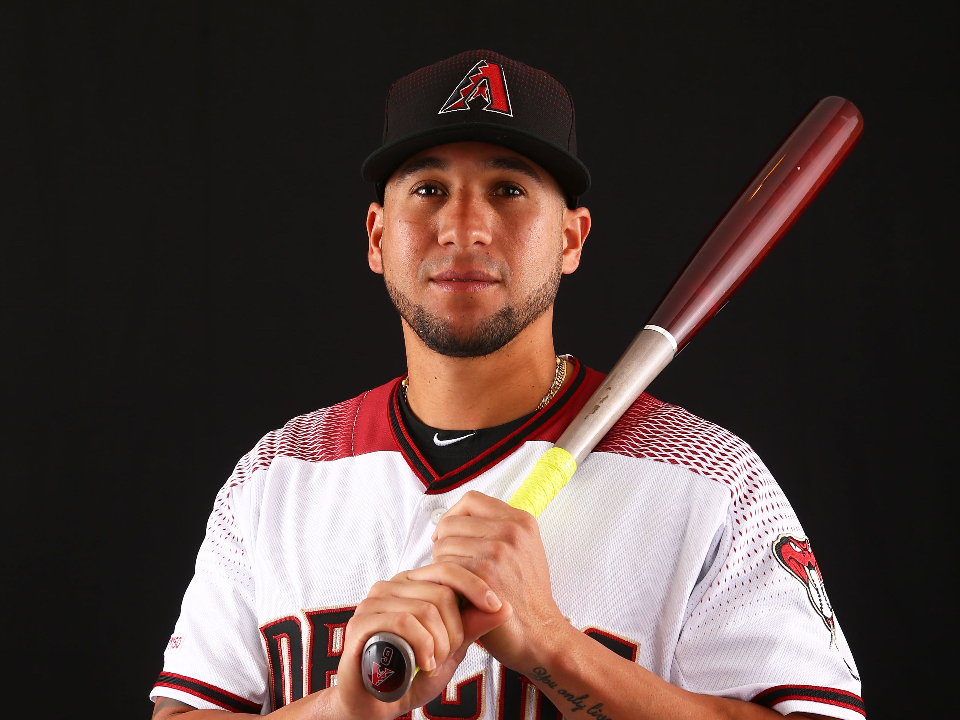 David Peralta of the Arizona Diamondbacks poses for a photo during the annual Spring Training Photo Day on Feb. 20 at Salt River Fields in Scottsdale, Ariz.