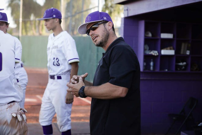 Queen Creek coach Mikel Moreno is serving his country.