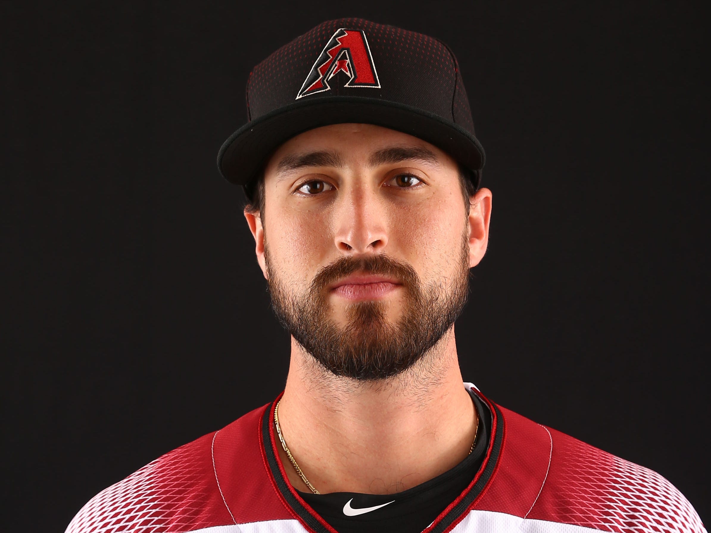 Stefan Crichton of the Arizona Diamondbacks poses for a photo during the annual Spring Training Photo Day on Feb. 20 at Salt River Fields in Scottsdale, Ariz.