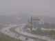 Graupel, or small hail, falls over Interstate 17 in the north Valley on Feb. 21, 2019.
