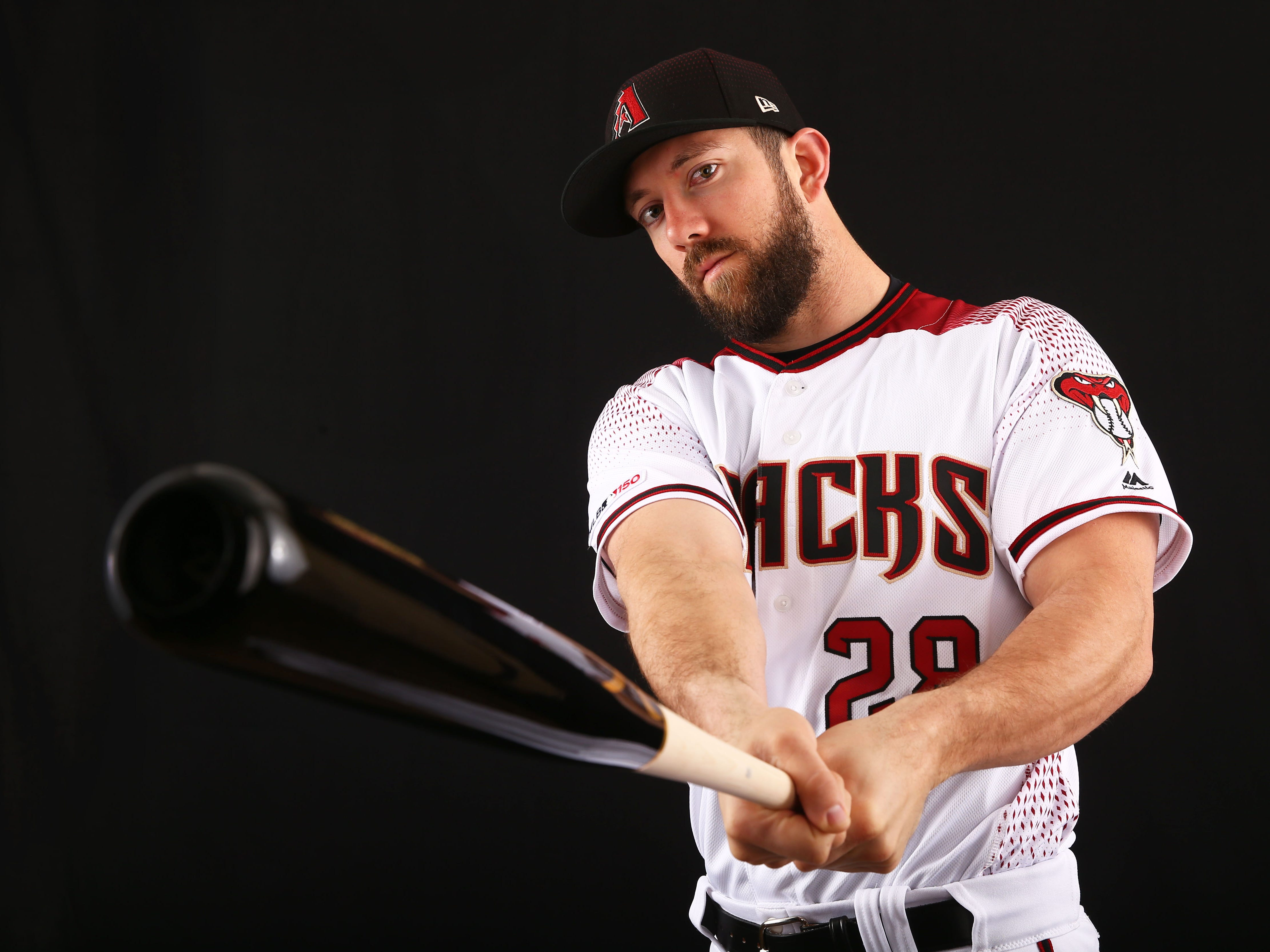 Steven Souza Jr. of the Arizona Diamondbacks poses for a photo during the annual Spring Training Photo Day on Feb. 20 at Salt River Fields in Scottsdale, Ariz.