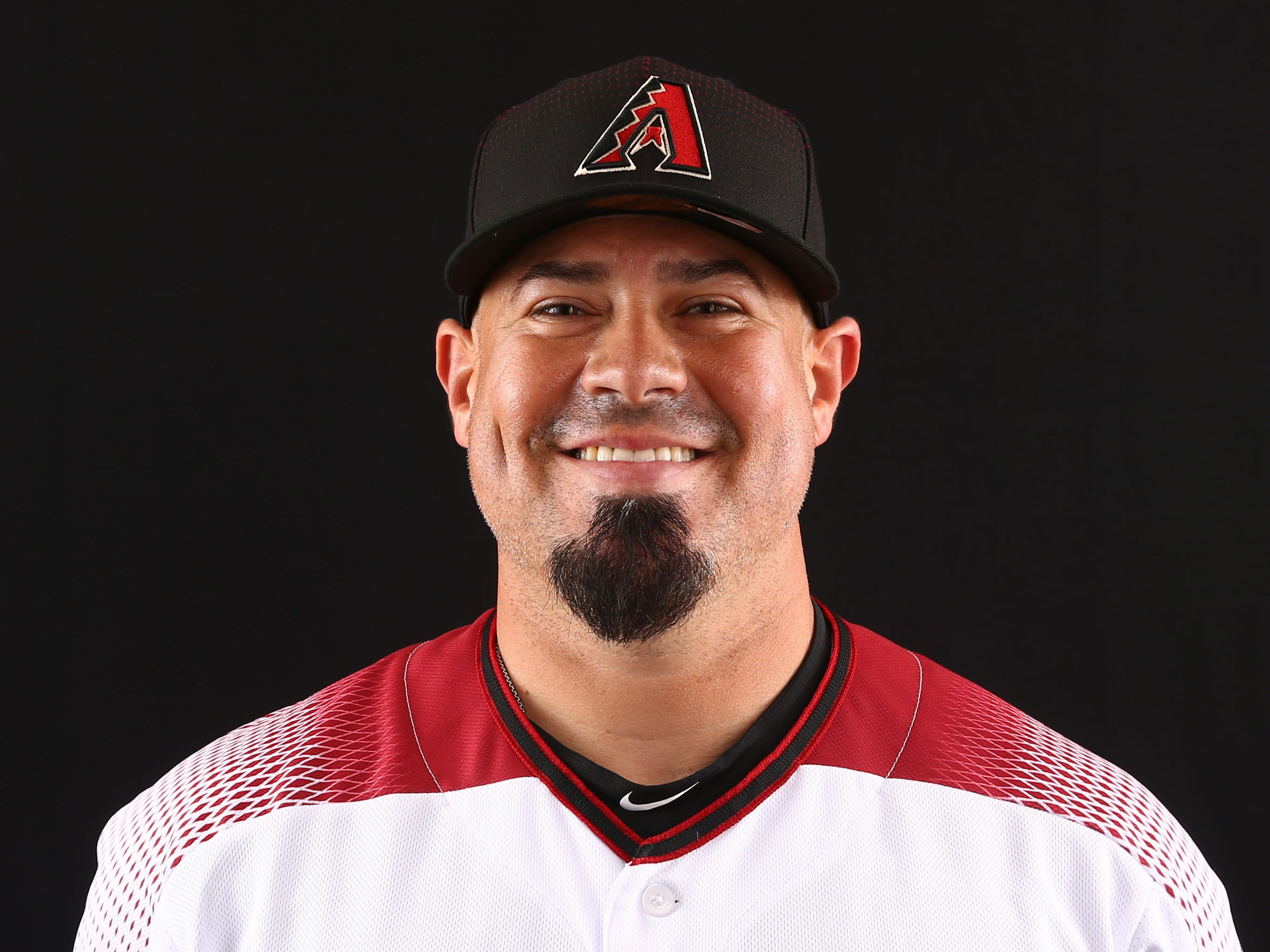 Humberto Quintero of the Arizona Diamondbacks poses for a photo during the annual Spring Training Photo Day on Feb. 20 at Salt River Fields in Scottsdale, Ariz.