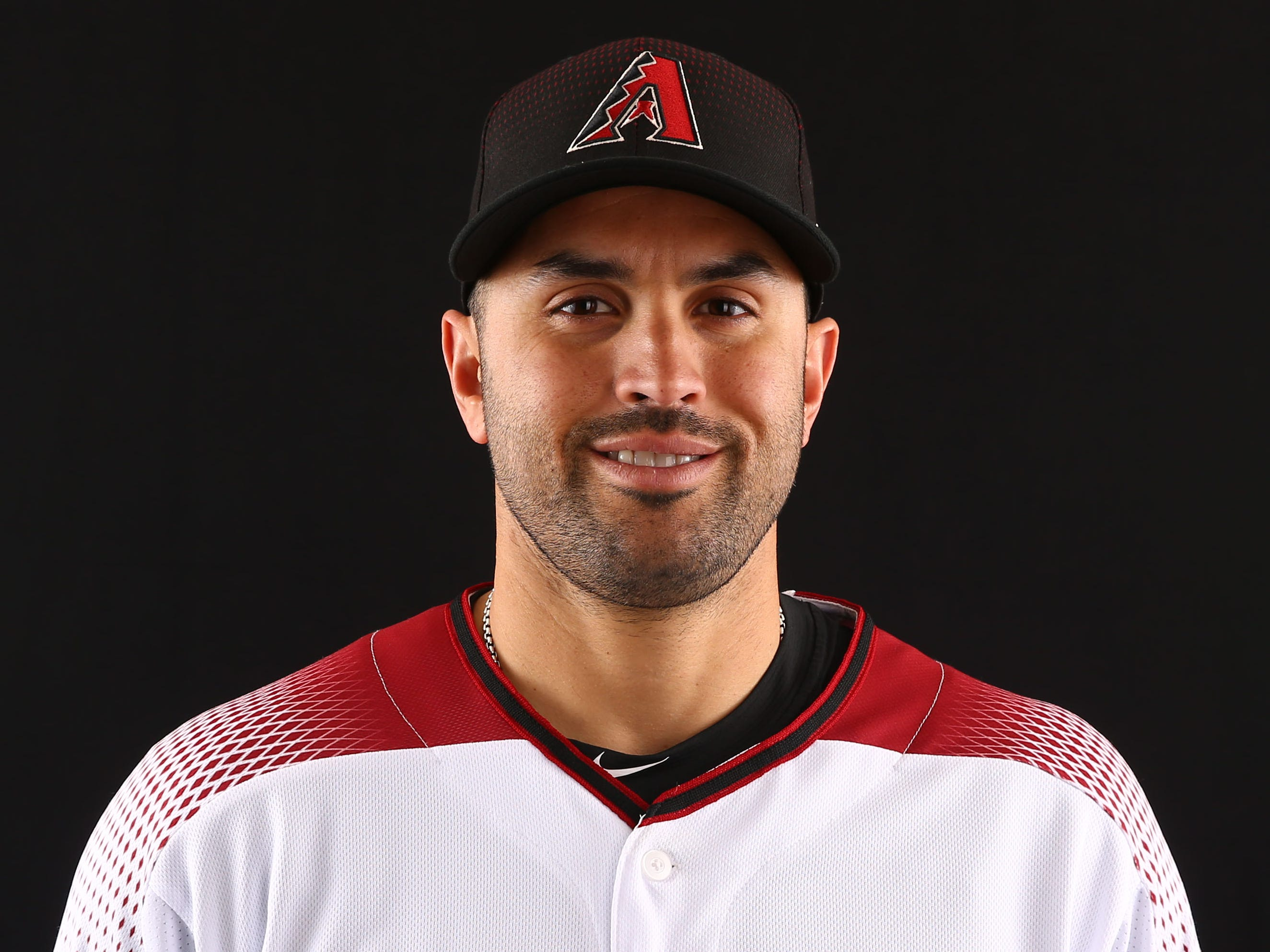 Luis Urueta of the Arizona Diamondbacks poses for a photo during the annual Spring Training Photo Day on Feb. 20 at Salt River Fields in Scottsdale, Ariz.