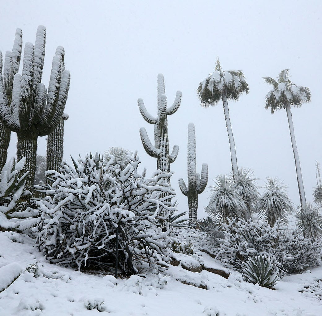 Arizona storm updates: Scottsdale sees snow and Peoria sees hail