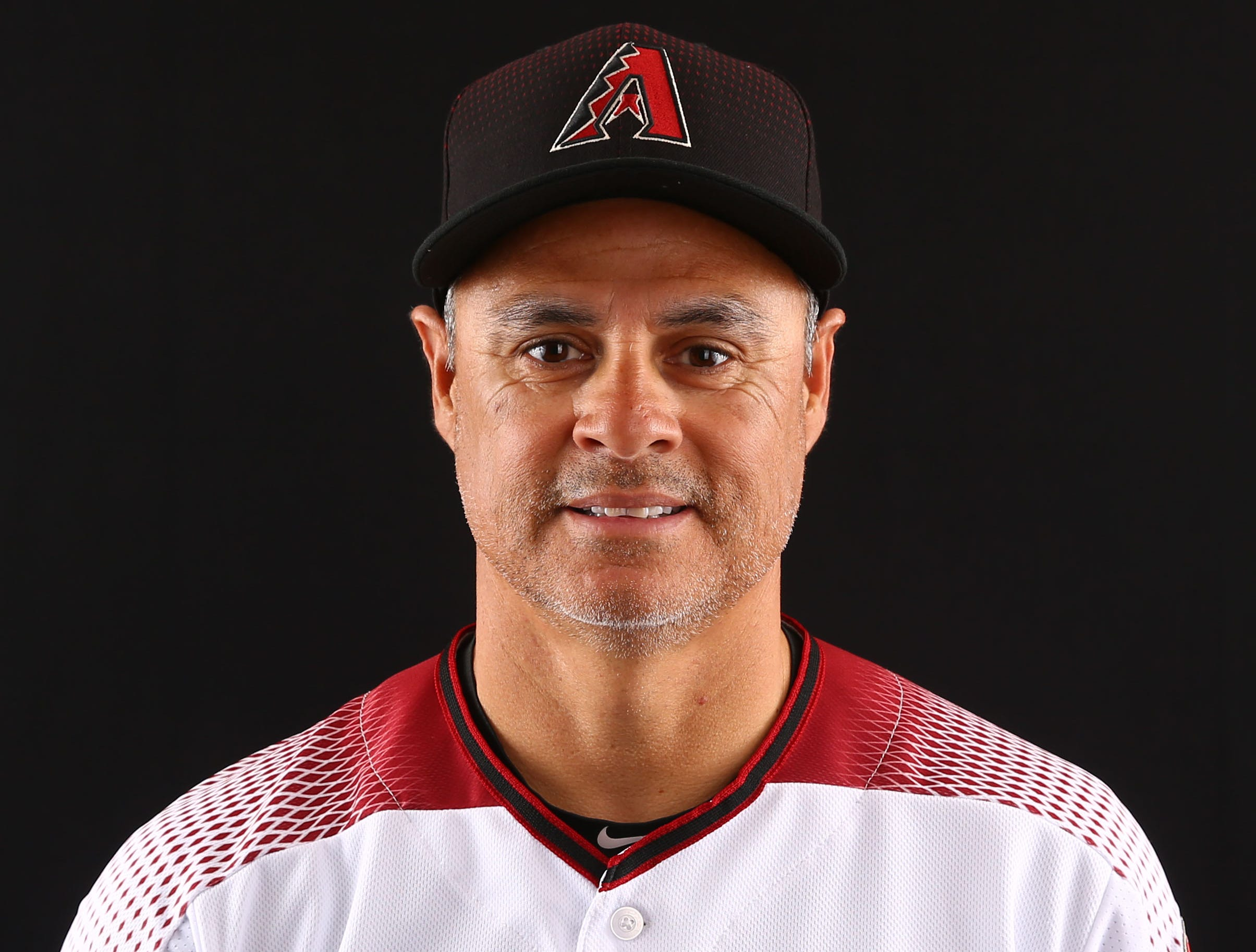 Tony Perezchica of Arizona Diamondbacks poses for a photo during the annual Spring Training Photo Day on Feb. 20 at Salt River Fields in Scottsdale, Ariz.