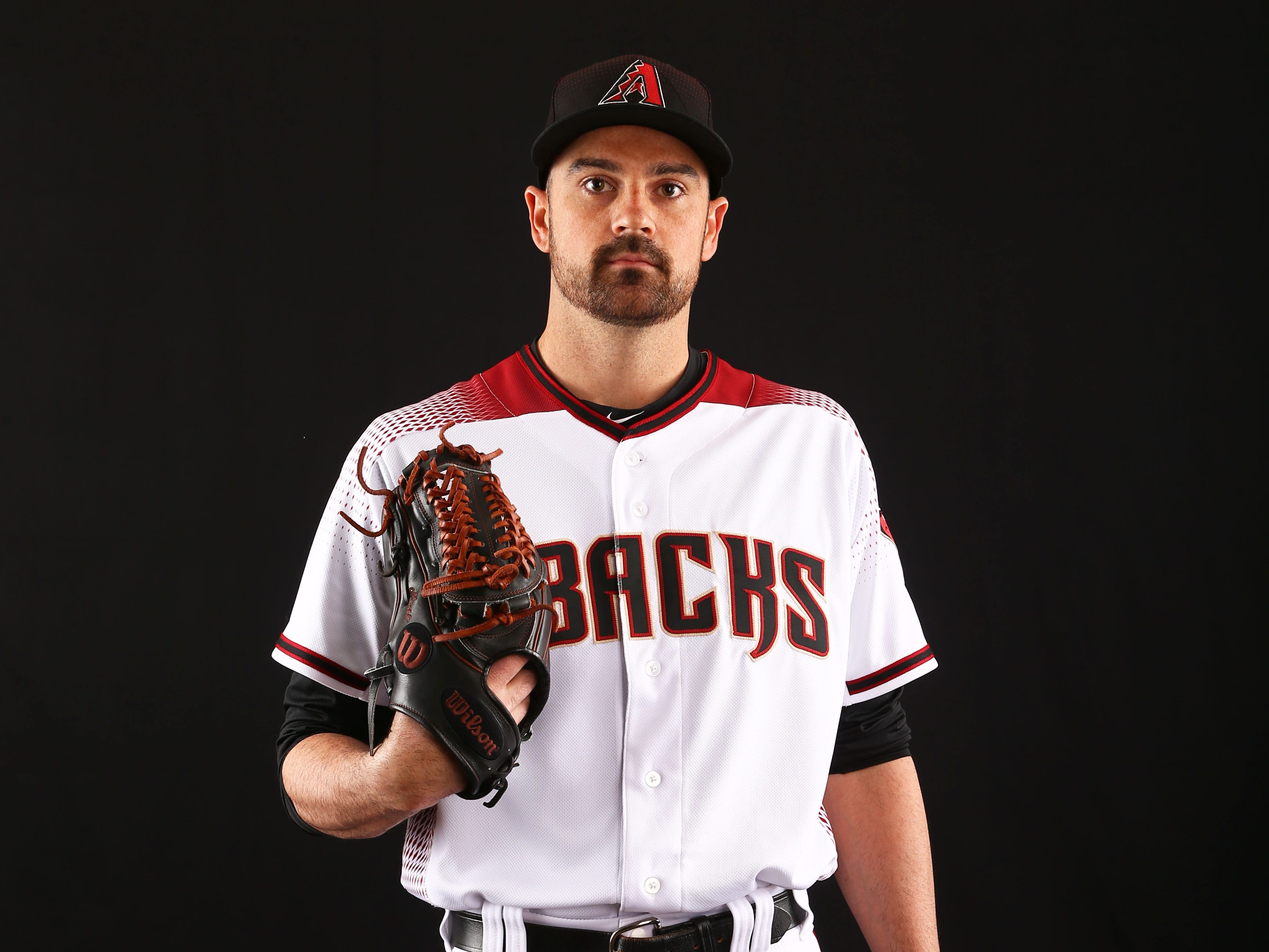 T.J. McFarland of the Arizona Diamondbacks poses for a photo during the annual Spring Training Photo Day on Feb. 20 at Salt River Fields in Scottsdale, Ariz.